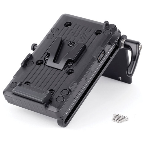 Wooden Camera Battery Slide with V-Mount Plate and AJA CION Molex Connector