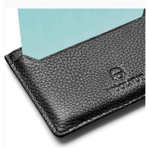 Woolnut Leather Card Holder (Black)