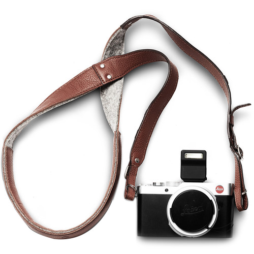 Woolnut Leather Camera Strap (Cognac Brown)