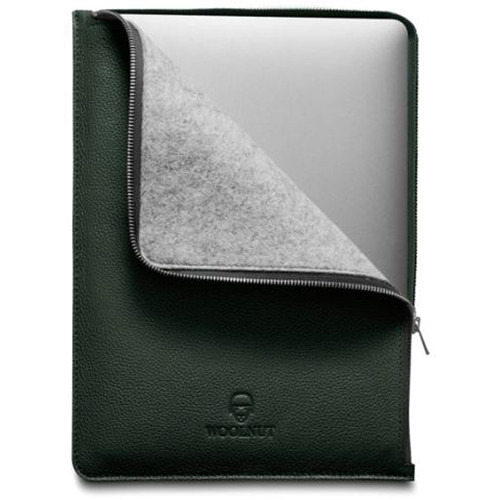 """Woolnut Leather Folio for 13"""" MacBook Pro and Air (Green)"""