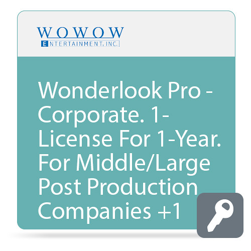 WOWOW Entertainment Additional PC License for WonderLook Pro Corporate (1-Year Subscription, Download)