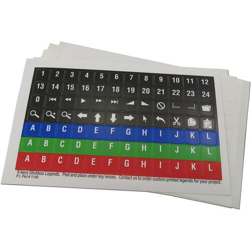 X-keys Printed Legend Sheet (5-Pack)