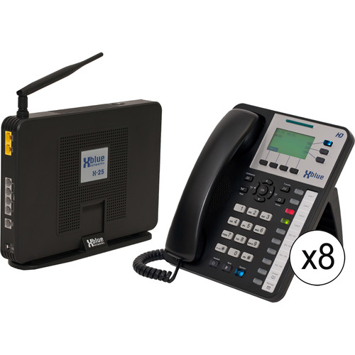 XBLUE Networks X-25 System Bundle with Nine X3030 VoIP Phones