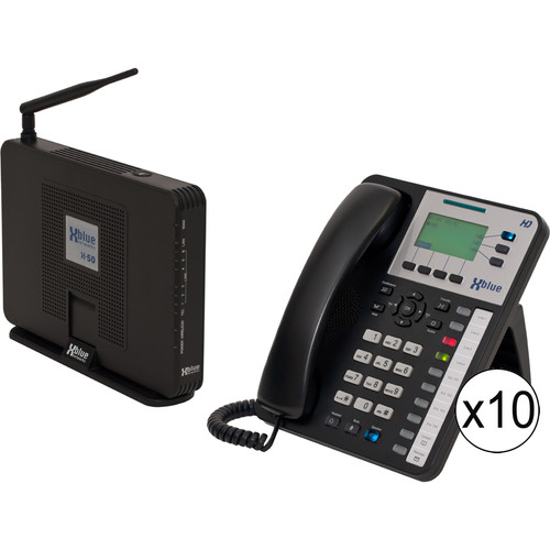 XBLUE Networks X-50 System Bundle with Ten X3030 VoIP Phones
