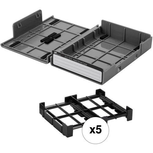 "Xcellon 3.5"" / 2.5"" Hard Drive Case Kit (5-Pack, Gray)"
