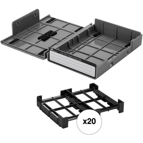 "Xcellon 3.5"" / 2.5"" Hard Drive Case Kit (20-Pack, Gray)"