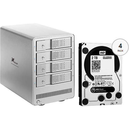 Xcellon DRD-401 8TB (4 x 2TB) Four-Bay HDD Enclosure with Drives