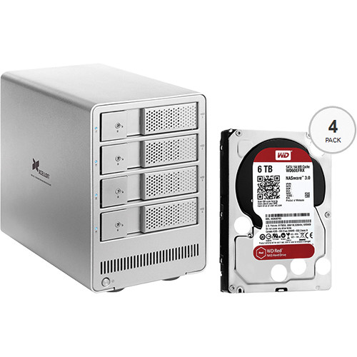 Xcellon DRD-401 24TB (4 x 6TB) Four-Bay HDD Enclosure with Drives