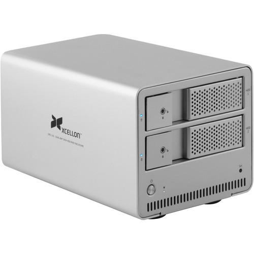 Xcellon DRD-101 2TB (2 x 1TB) Dual-Bay Enclosure Kit with Drives