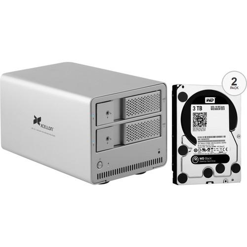Xcellon DRD-101 6TB (2 x 3TB) Dual-Bay Enclosure Kit with Drives