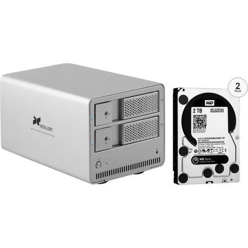 Xcellon DRD-101 4TB (2 x 2TB) Dual-Bay Enclosure Kit with Drives