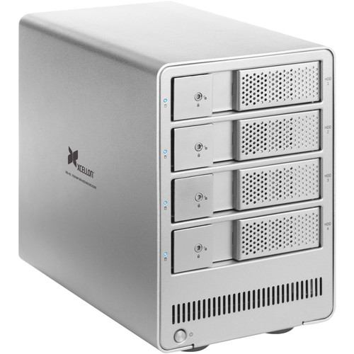 Xcellon DRD-401 2.0TB (4 x 500GB) Four-Bay HDD Enclosure Kit with Samsung Evo SSDs