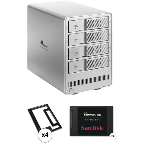 Xcellon DRD-401 3.8TB (4 x 960GB) Four-Bay HDD Enclosure Kit with SanDisk SSDs