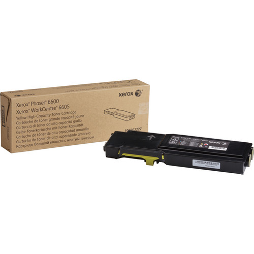 Xerox High Capacity Yellow Toner Cartridge for Phaser 6600 and WorkCentre 6605