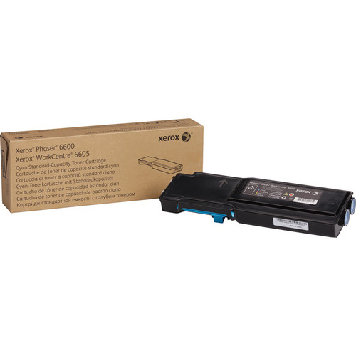 Xerox Standard Capacity Cyan Toner Cartridge for Phaser 6600 and WorkCentre 6605