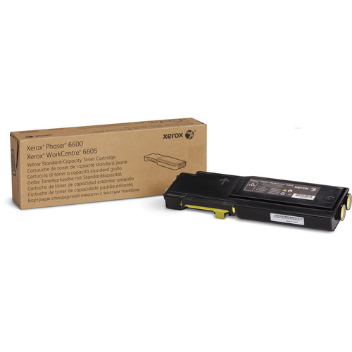 Xerox Standard Capacity Yellow Toner Cartridge for Phaser 6600 and WorkCentre 6605