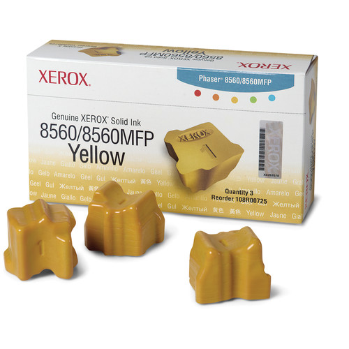 Xerox Yellow Solid Ink for Phaser 8560 & 8560MFP (3 Sticks)