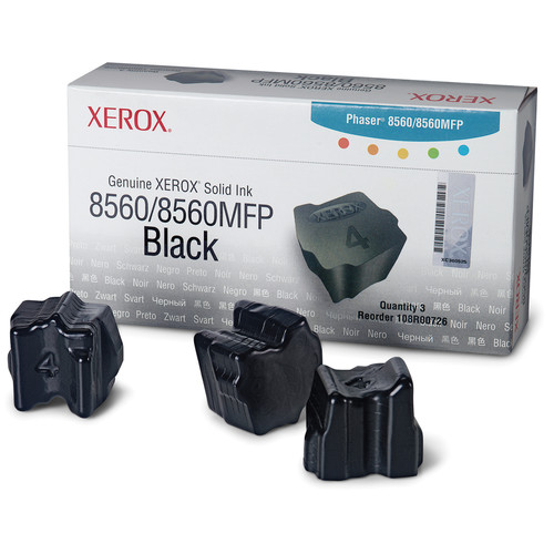 Xerox Black Solid Ink for Phaser 8560 & 8560MFP (3 Sticks)