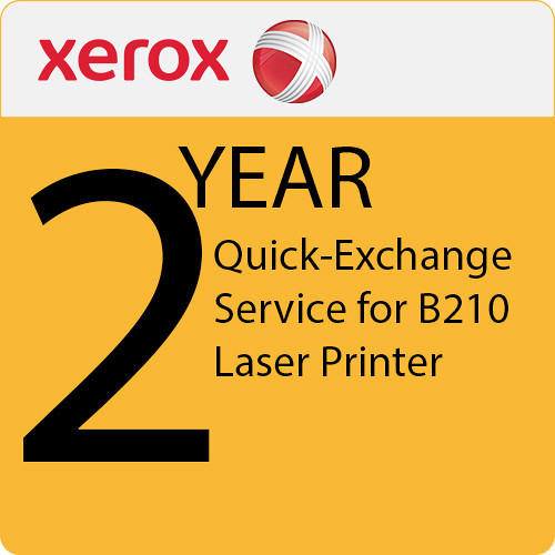 Xerox 2-Year Extended Quick-Exchange Service for B210 Laser Printer