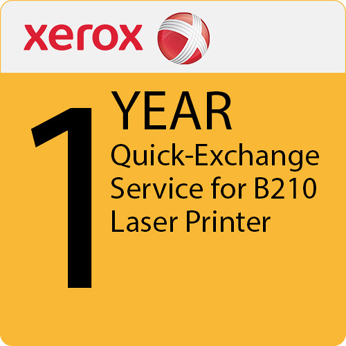 Xerox 1-Year Quick Exchange Service for B210 Laser Printer
