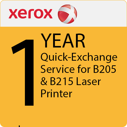 Xerox 1-Year Extended Quick-Exchange Service for B205 & B215 Laser Printers
