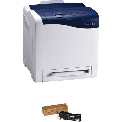 Xerox Phaser 6500/N Color Laser Printer with High-Yield Black Toner Cartridge Kit