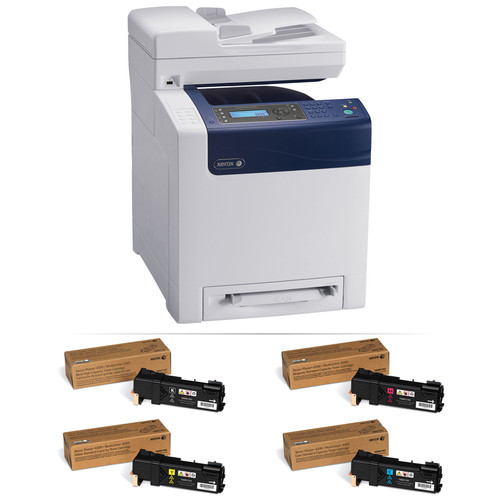 Xerox Phaser 6505/DN Network All-in-One Color Laser Printer with Extra Set of Toner Cartridges