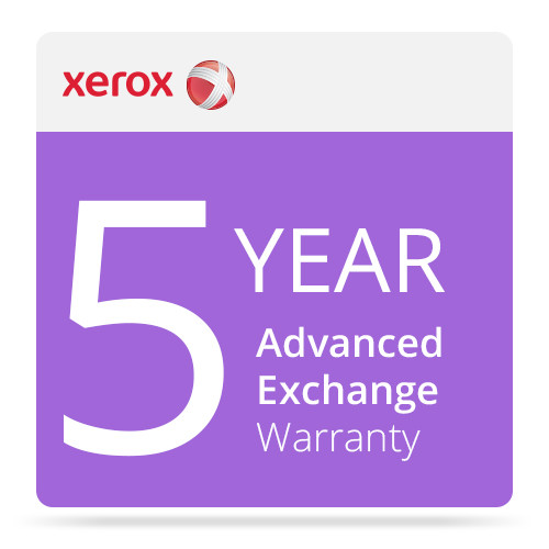 Xerox 5-Year Advanced Exchange Warranty for DocuMate 3125 Document Scanner