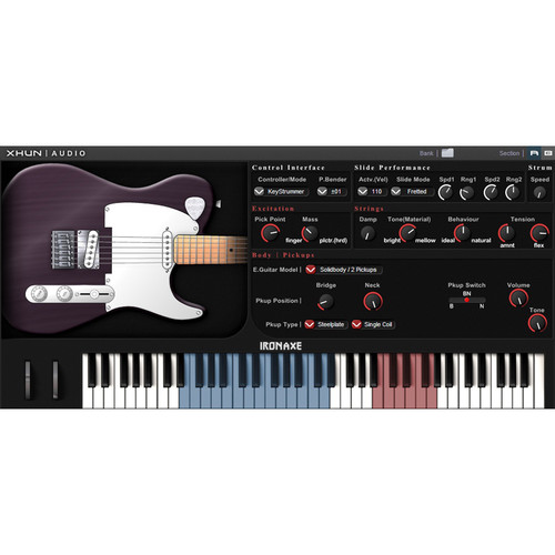 XHUN Audio IronAxe - Physical Modeld Virtual Electric Guitar (Download)