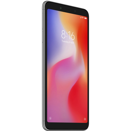 Xiaomi Redmi 6 Dual-SIM 32GB Smartphone (Unlocked, Gray)