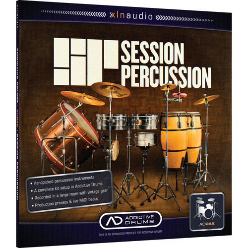 XLN Audio Session Percussion ADpak - Expansion Pack for Addictive Drums