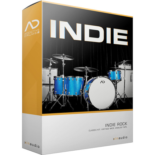 XLN Audio Indie AD2 ADPAK - Virtual Drum Kit (Download)