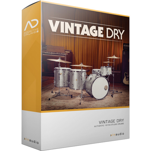 XLN Audio Vintage Dry AD2 ADPAK - Virtual Drum Kit (Download)