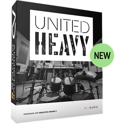 XLN Audio United Heavy ADpak for Addictive Drums 2 - Virtual Instrument (Download)