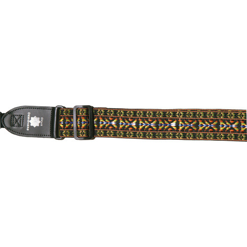 """XP PhotoGear Woven Gear Designer Strap with Leather Ends for DSLR Camera with Lens (Yellow and Orange, 56"""" Long, 2"""" Wide)"""