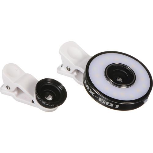 XP PhotoGear 6-in-1 LED Light Mobile Phone Lens Kit (Black)