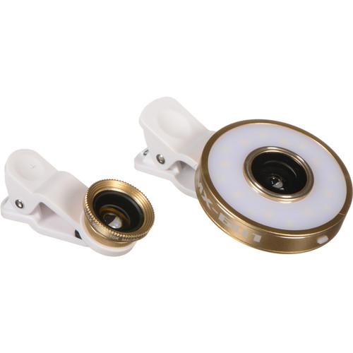XP PhotoGear 6-in-1 LED Light Mobile Phone Lens Kit (Gold)