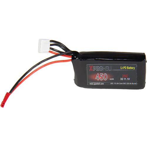 XProHeli 11.1V, 450mAh 3S 25C LiPo Battery for Small XPG Brushless Gimbal