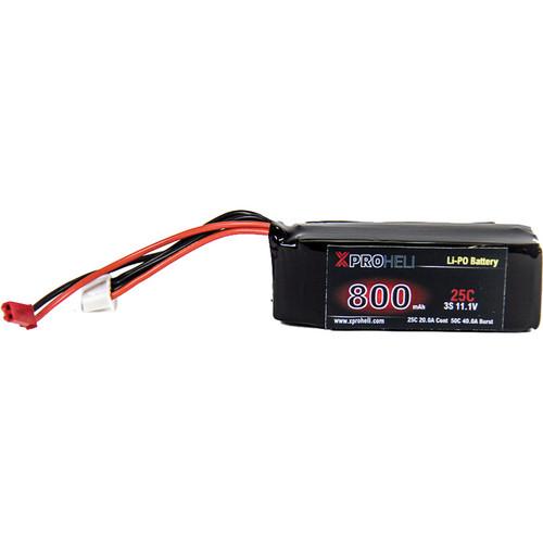 XProHeli 11.1V, 800mAh 3S 25C LiPo Battery for Large XPG Brushless Gimbal