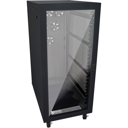XRackPro XRackPro2 Noise Reduction Server Rack Enclosure (25 RU, Black)