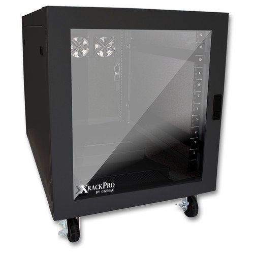XRackPro XRackPro2 Noise-Reduction Server Rack-Enclosure (12 RU, Black)