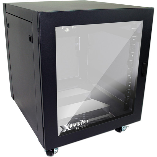 XRackPro XRackPro2 12U Studio Noise Reduction Rack Enclosure (Black)