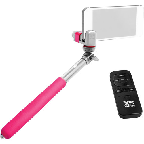 XSORIES Me-Shot Deluxe Extension Pole with Bluetooth Remote (White/Pink)