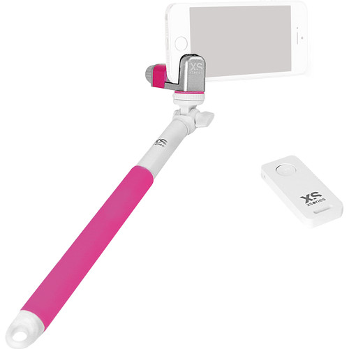 XSORIES Me-Shot Deluxe 2.0 Extension Pole with Bluetooth Remote (Pink & White)