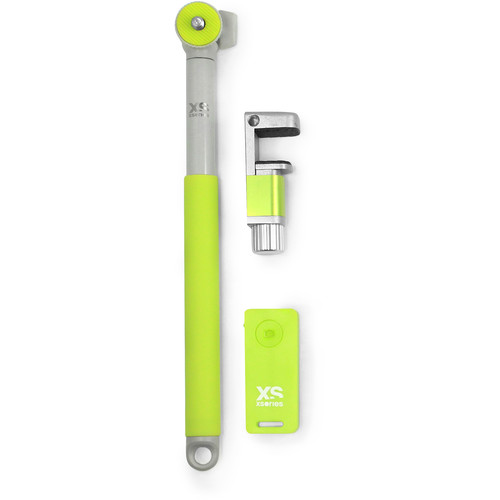 XSORIES Me-Shot Deluxe 2.0 Extension Pole with Bluetooth Remote (Yellow & Gray)