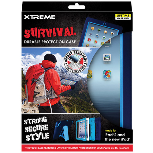 Xtreme Cables Survival Durable Protection Case for iPad 2nd, 3rd Gen (Black)