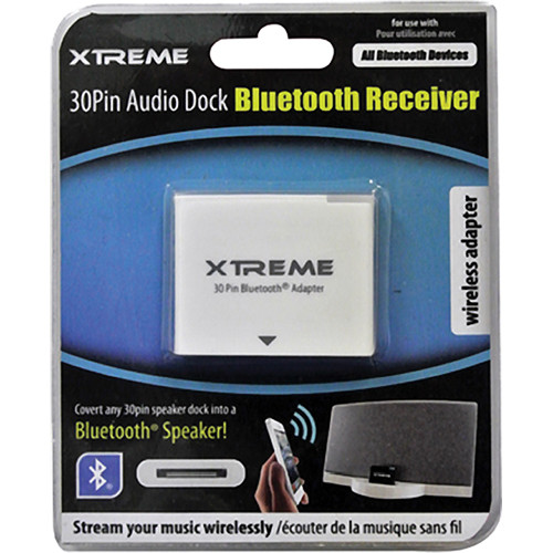 Xtreme Cables 30-pin Audio Dock Bluetooth Receiver 59850 B&H