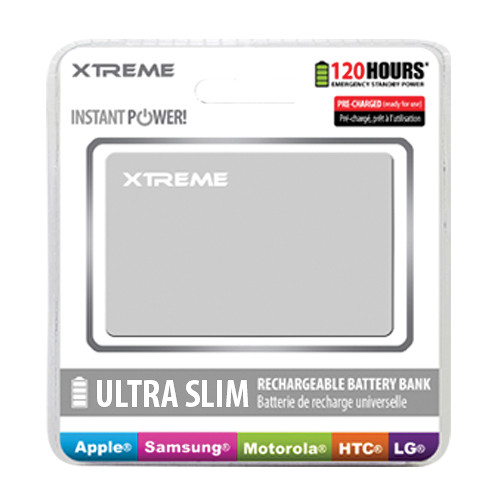 Xtreme Cables Ultra-Thin Power Card Battery Bank (White)