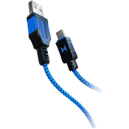 Xtreme Cables Tough Series Micro USB Cable (6', Black/Blue)
