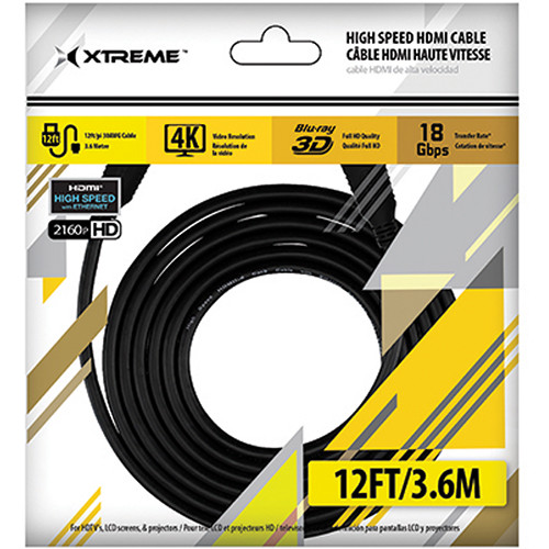 Xtreme Cables High-Speed HDMI Cable with Ethernet (12')